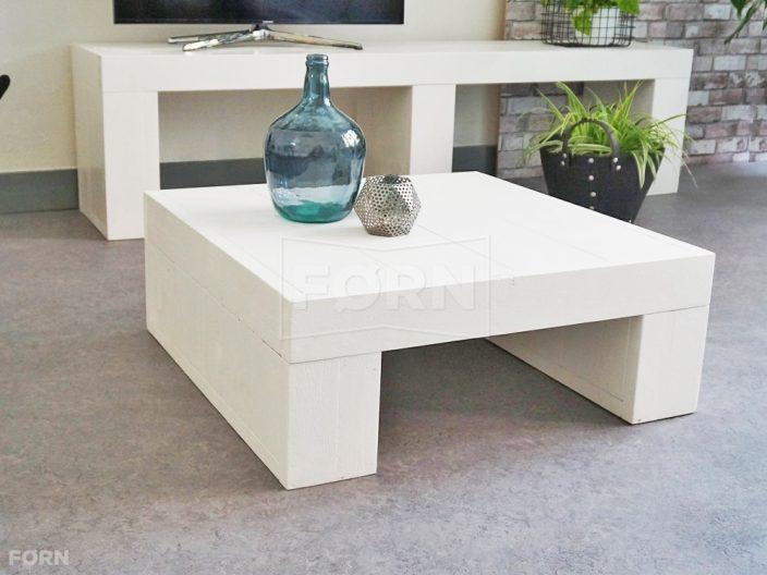 witte houten salontafel Vit02