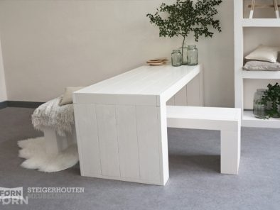 witte houten eettafel vit04