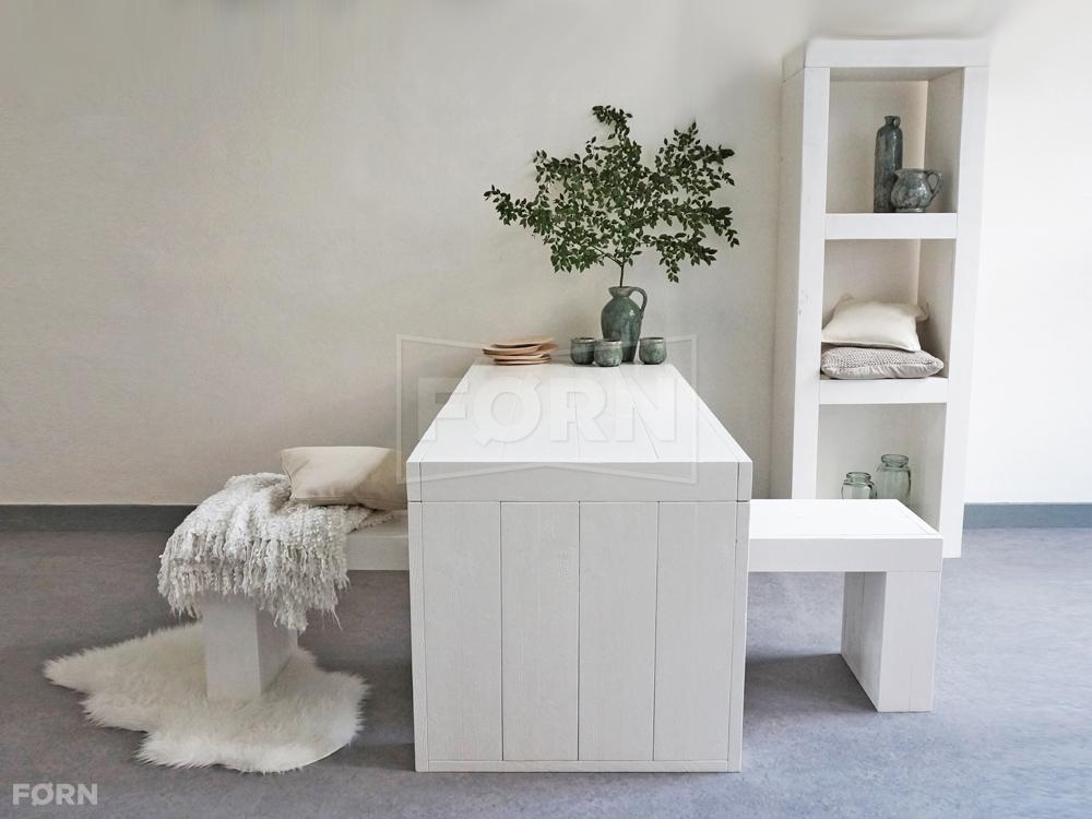 witte houten tafel zij vit04