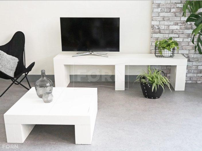 Witte houten tv meubel wide