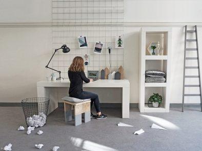 Steigerhout bureau wit vit03