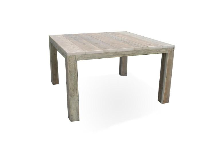 Vierkante Uitschuif Eettafel.Vierkante Tafel Nordhorn Van Steigerhout
