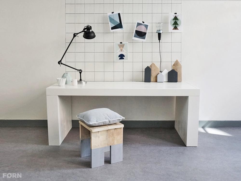 wit houten bureau vit modern en stoer van f rn