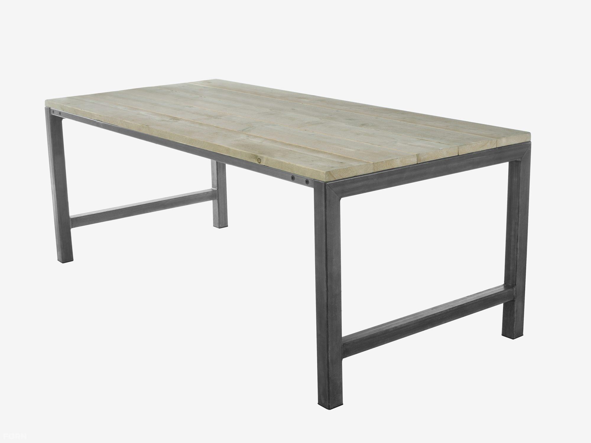 Industriele Tafel Goedkoop : Industriële eettafel met steigerhout en stalen poten olivia met of