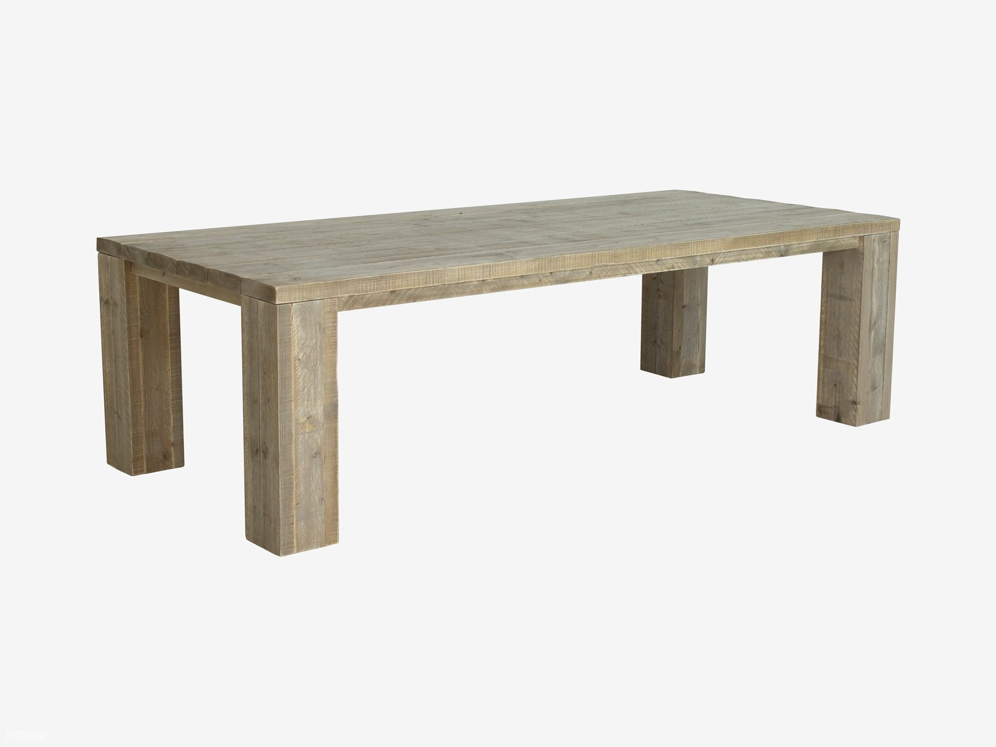 Steigerhouten tafel Kollmar met dikke planken   F u00d8RN
