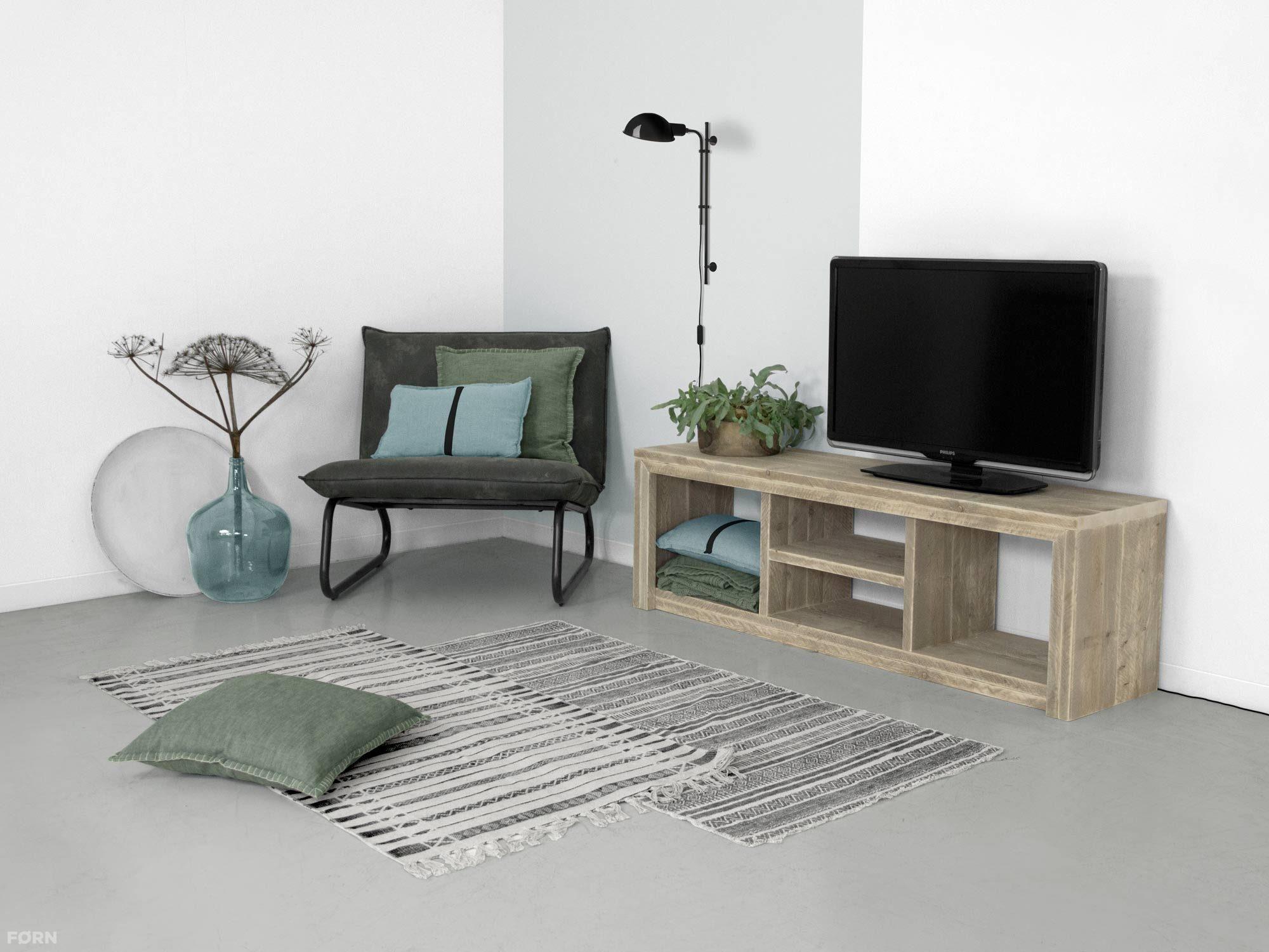 Steigerhout Tv Kast : Steigerhouten tv meubel laghetto tv kast van steigerhout