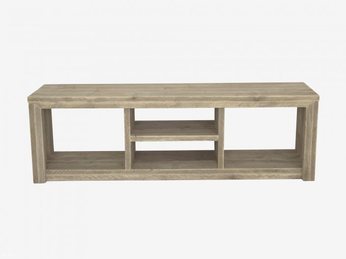 Steigerhouten tv meubel laghetto witte achtergrond 3