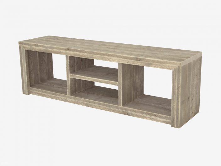 Steigerhouten tv meubel laghetto witte achtergrond 4