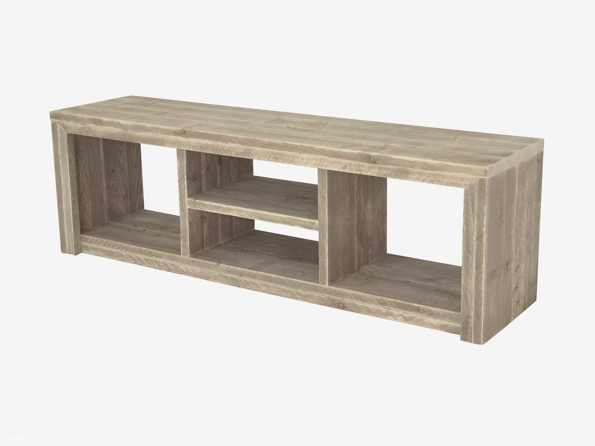 Steigerhouten tv meubel laghetto tv kast van steigerhout for Ladenblok 1 meter breed