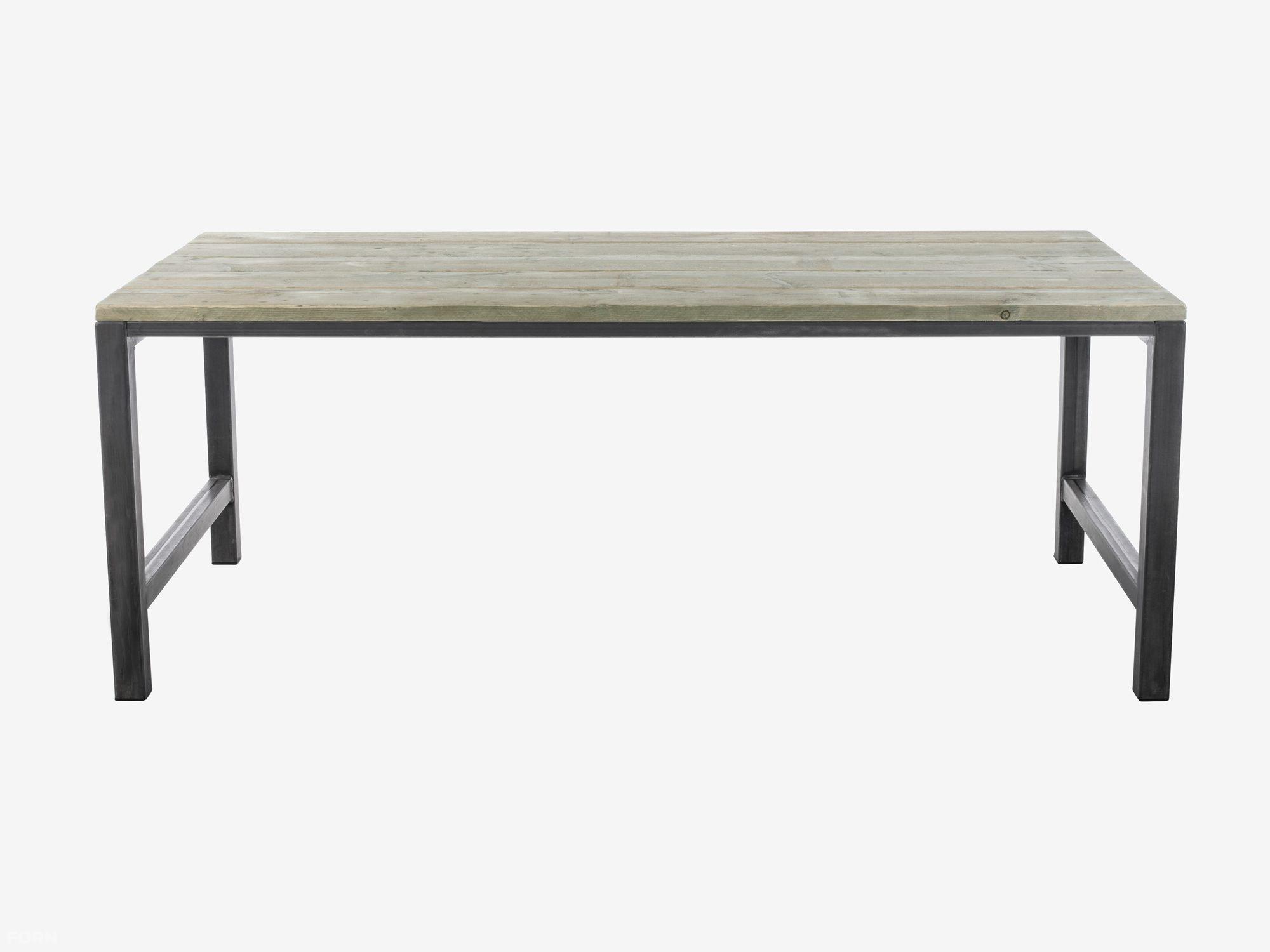 Steigerhouten tafel met stalen onderstel tafels met metaal