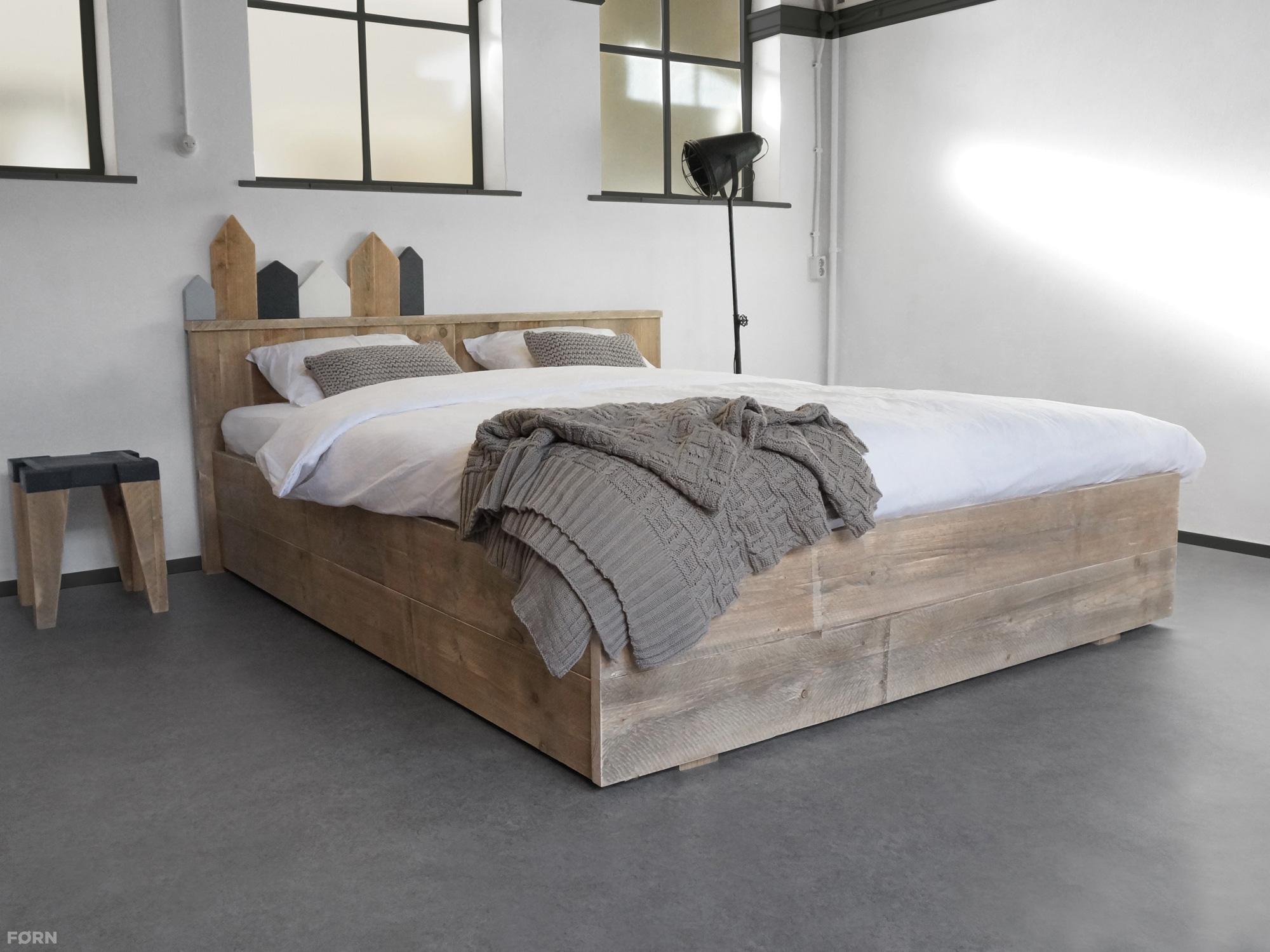 Steigerhouten bed anemone f rn for Bed van steigerhout maken