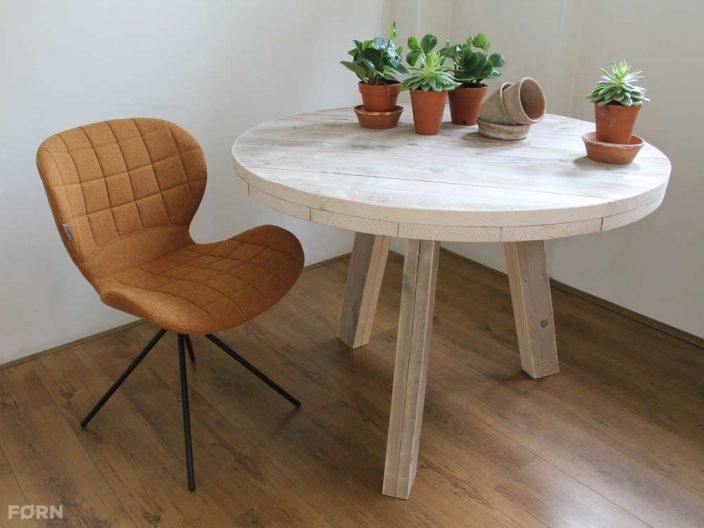 Steigerhouten ronde tafel Tripod bij SteigerhoutenMeubelshop.nl