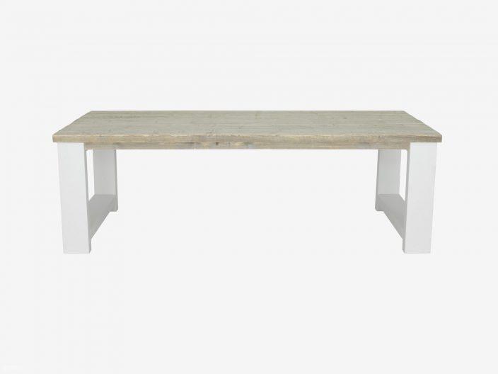 steigerhouten tafel Millau witte achtergrond