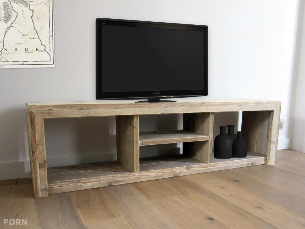 Steigerhouten tv meubel laghetto tv kast van steigerhout - Planken maken in een kast ...