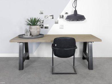 Alpha industriele tafel steigerhout en staal