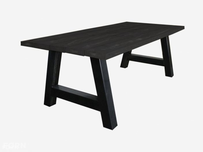 Industriele tafel A-poot black wash