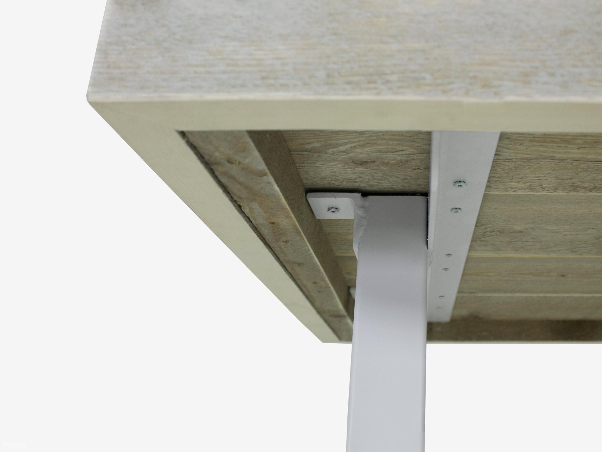 Industriele Tafel Poten : Stalen poten tafel arendal industriele tafel steigerhout