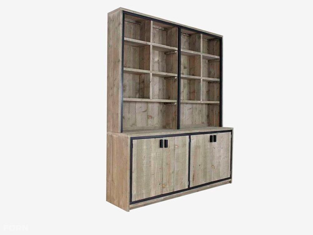 Industriele kast tweedehands interieur meubilair idee n - Oude meubilair dressoir ...