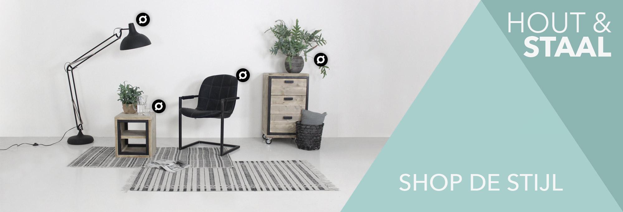 Banner industriële meubelserie Ben