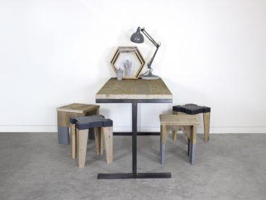 Industriële tafel of bureau Pip