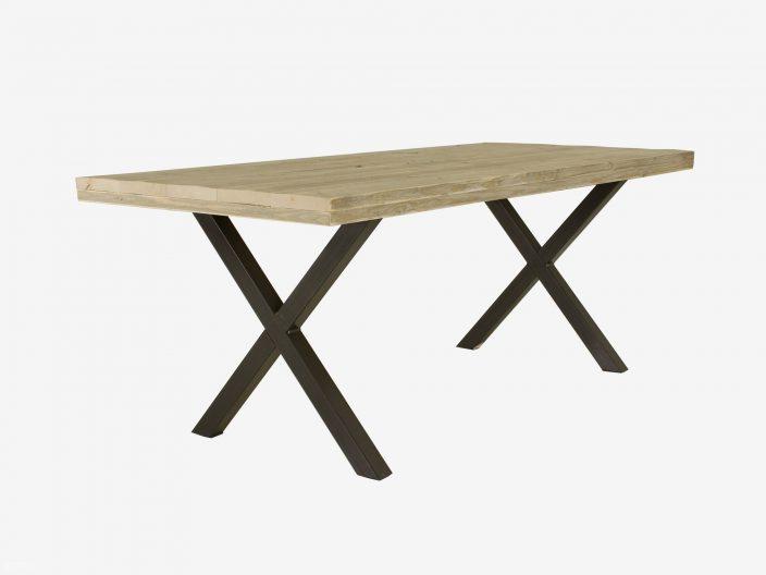 tibbe steigerhouten tafel stalen-onderstel witte achtergrond