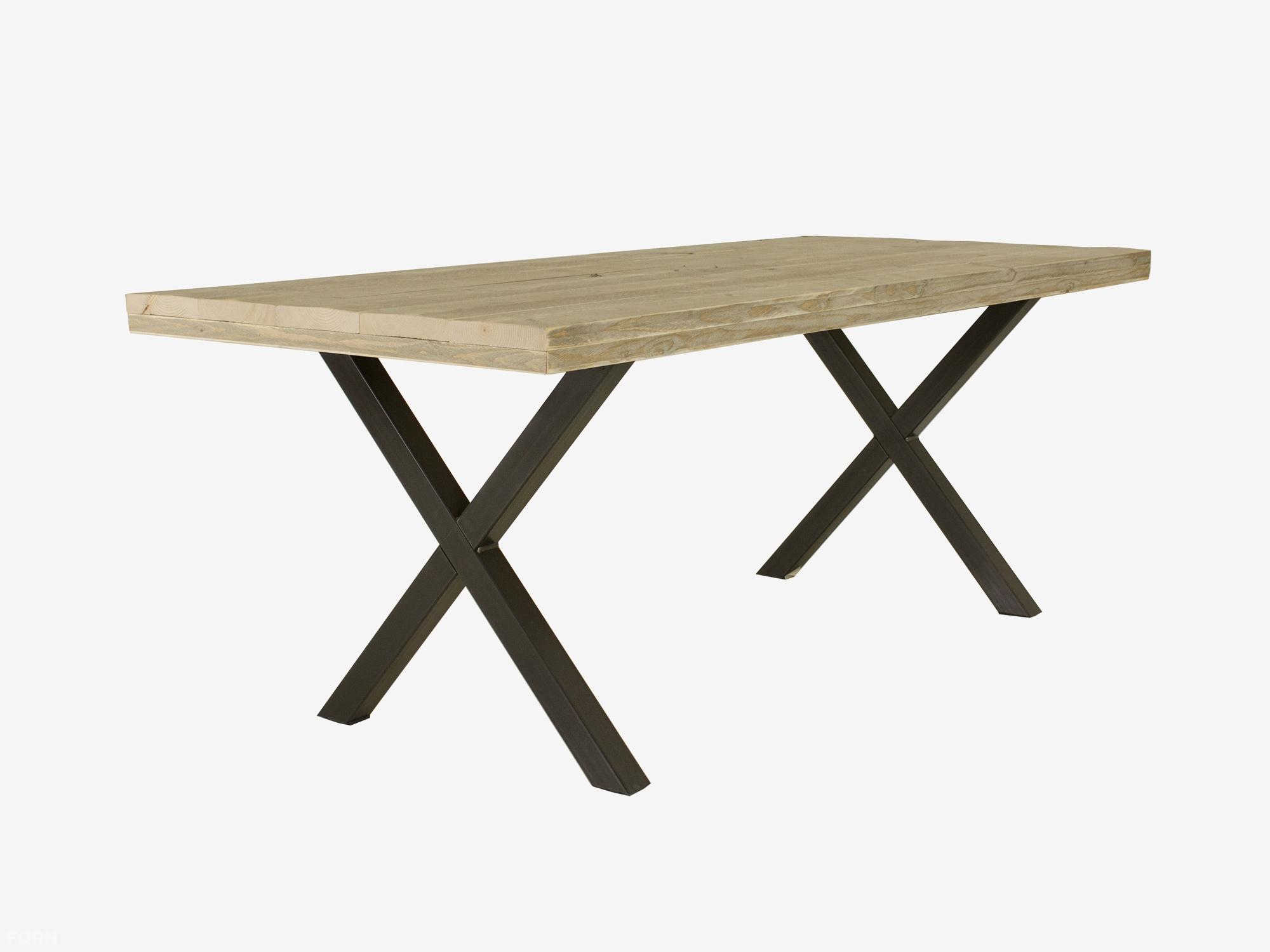 Tafel Stalen Poten : Industriële tafel x poot tibbe fØrn industriële tafels op maat