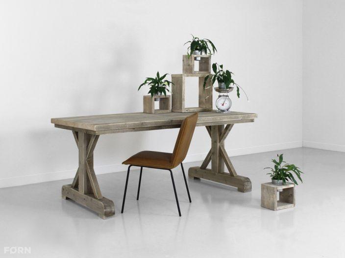landelijke tafel steigerhout Olivier