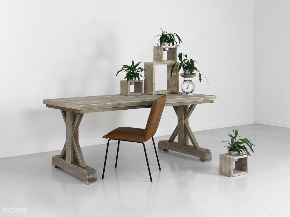Landelijke tafel Olivier op maat gemaakt   F u00d8RN