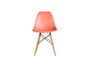 DSW stoel donker zalm eames style
