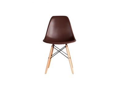 DSW eames style stoel koffie kleur