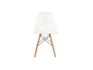 DSW stoel transparant Eames style