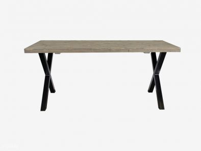 Industriele X-poot tafel staal