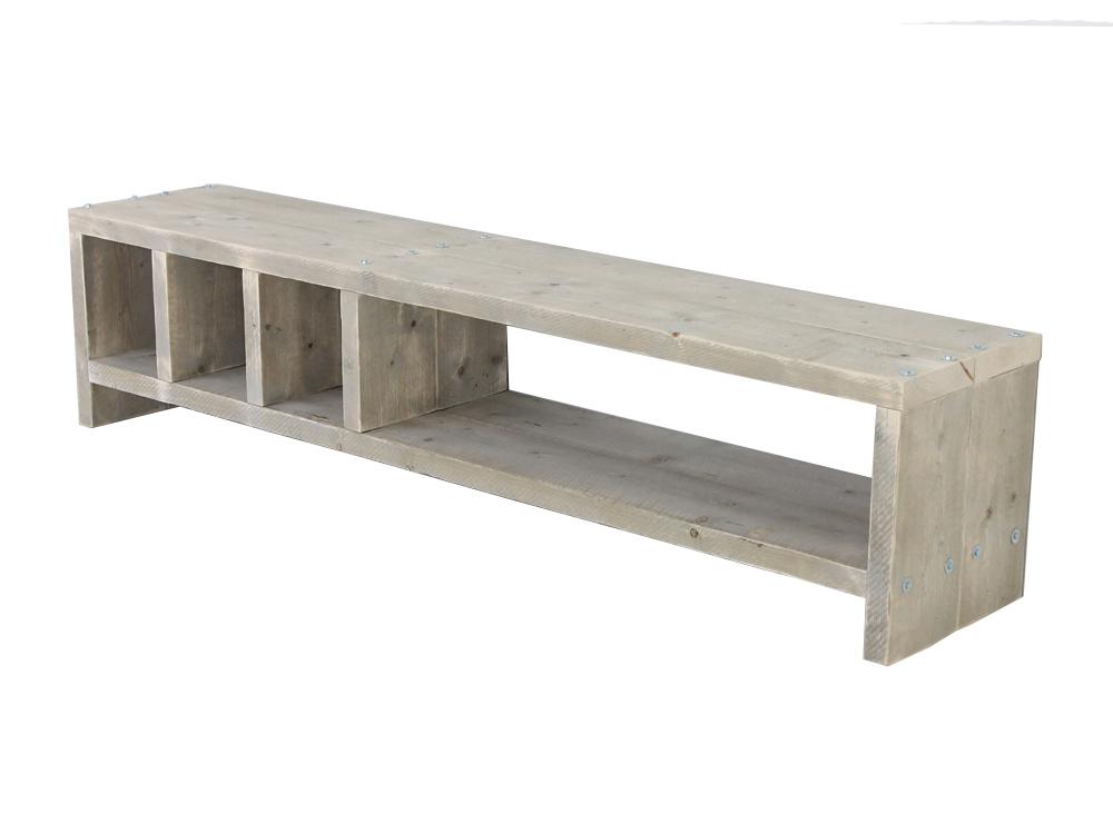 Steigerhout tv meubel mees f rn tv meubels van steigerhout for Steigerhout tv meubel maken