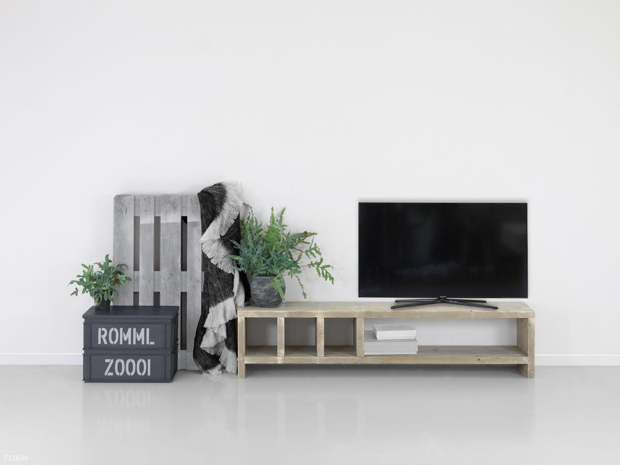 Steigerhout Tv Kast : Steigerhout tv meubel mees fØrn tv meubels van steigerhout