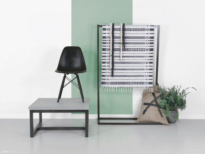 industriele salontafel max staal en beton sfeerfoto