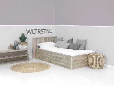Steigerhout bed Annelize op maat gemaakt