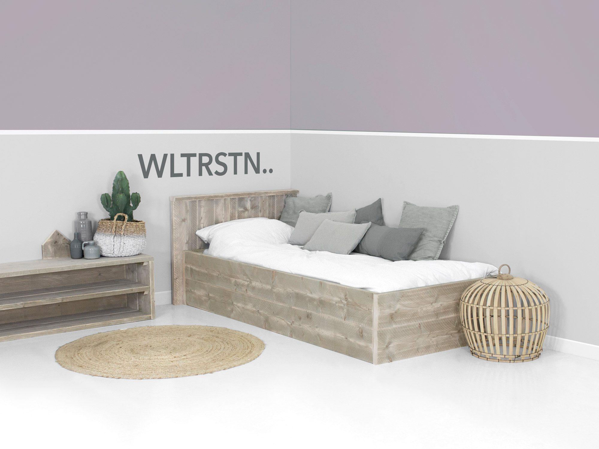 Steigerhout bed op maat gemaakt ook met laden for Steigerhout op maat