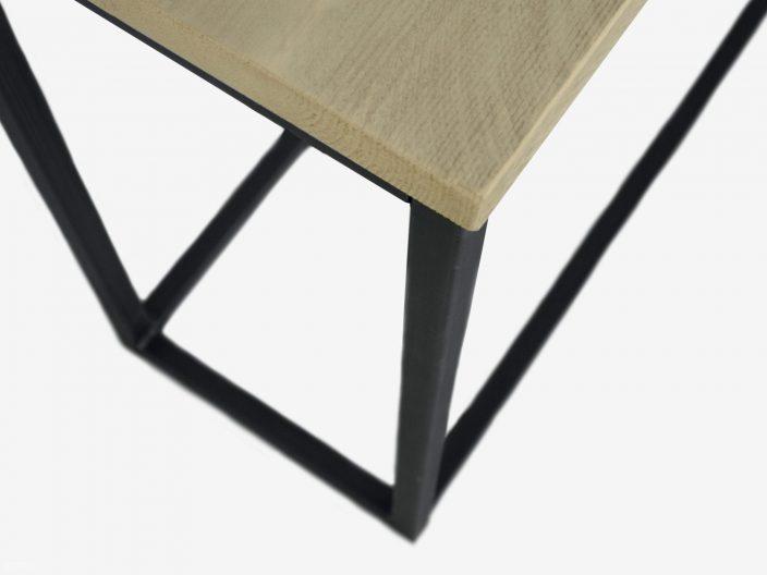 Industriele sidetable Thijn steigerhout en staal