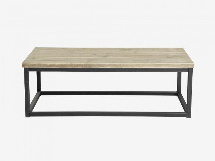 Industriele salontafel Steff staal en steigerhout witte achtergrond2