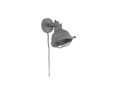 Industriële wandlamp Evan mat grijs