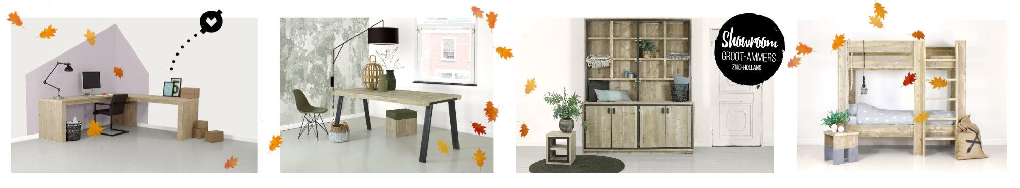 Steigerhouten meubels en projecten, showroom in Groot-Ammers.