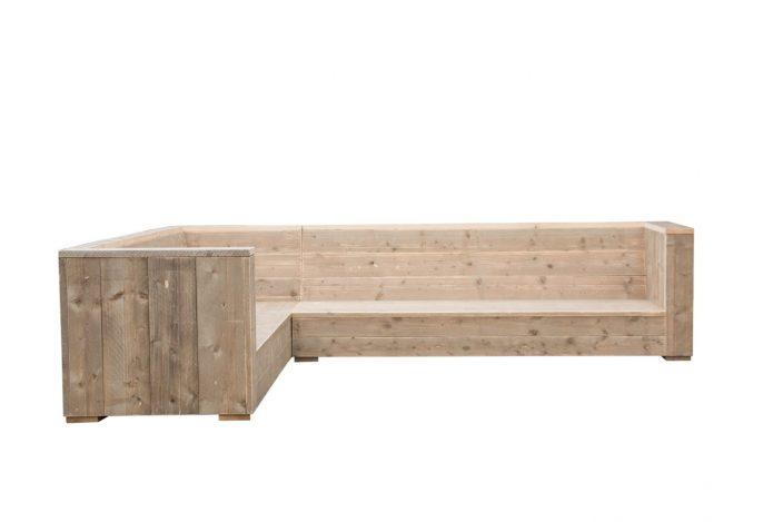 Steigerhouten hoekbank loungebank Siena