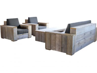 Steigerhouten loungeset Sorano