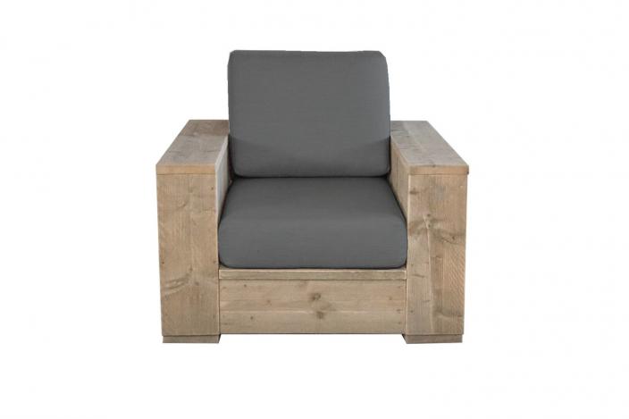 Luxe steigerhouten loungestoel Sorano