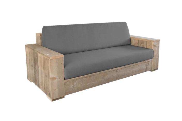 Luxe steigerhouten loungebank recht Sorano